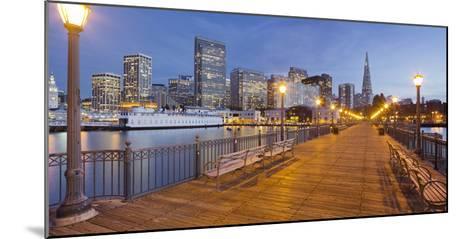 Pier 7, Transamerica Pyramid, Financial District, San Francisco, California, Usa-Rainer Mirau-Mounted Photographic Print