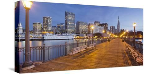 Pier 7, Transamerica Pyramid, Financial District, San Francisco, California, Usa-Rainer Mirau-Stretched Canvas Print