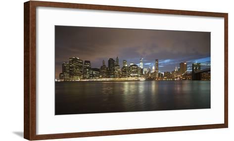 Long-Exposure Photography, View at Manhattan, New York, Usa-Benjamin Engler-Framed Art Print