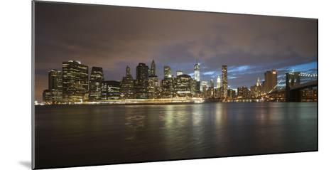 Long-Exposure Photography, View at Manhattan, New York, Usa-Benjamin Engler-Mounted Photographic Print