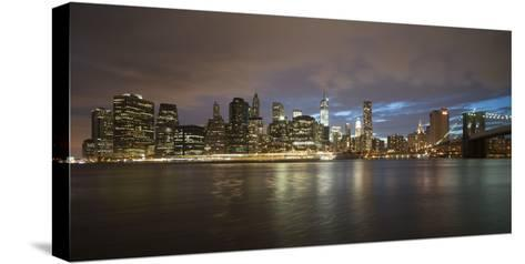 Long-Exposure Photography, View at Manhattan, New York, Usa-Benjamin Engler-Stretched Canvas Print