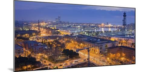 Spain, Catalonia, Barcelona, City View, Dusk-Rainer Mirau-Mounted Photographic Print