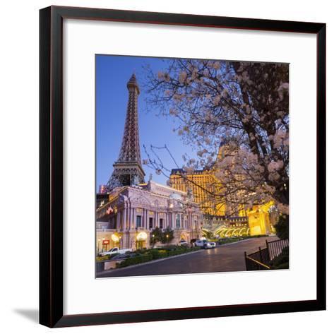 Paris Las Vegas Hotel, Strip, South Las Vegas Boulevard, Las Vegas, Nevada, Usa-Rainer Mirau-Framed Art Print