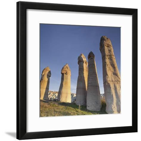 Fairy Chimneys in Love Valley, Tuff Stone, Cappadocia, Anatolia, Turkey-Rainer Mirau-Framed Art Print