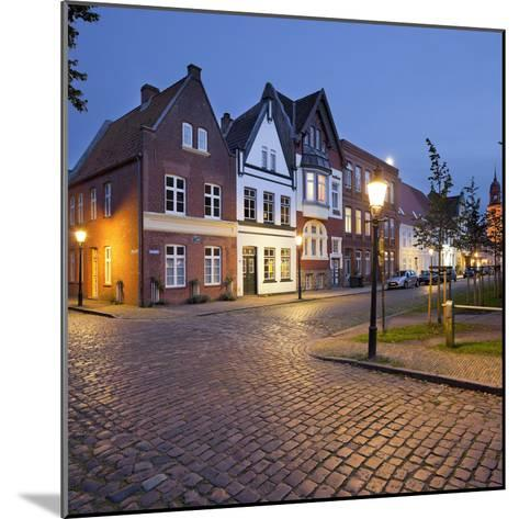 Houses at the Mittelburgwall (Street), Friedrichstadt, Schleswig-Holstein, Germany-Rainer Mirau-Mounted Photographic Print