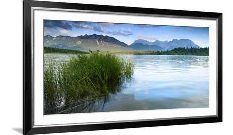 Germany, Bavaria, KrŸn, Evening Mood at Barmsee (Lake), View to Karwendel Mountains-Andreas Vitting-Framed Art Print