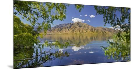 Pastures on the Shore of the Lake Benmore, Otago, South Island, New Zealand-Rainer Mirau-Mounted Photographic Print