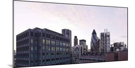 City View with Swiss-Re-Tower of Architect Sir Norman Foster, 30 St. Mary Axe, England-Axel Schmies-Mounted Photographic Print
