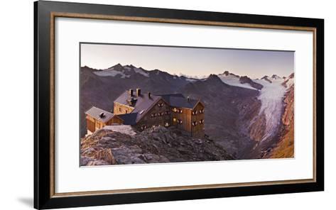 Austria, Tyrol, …tztaler Alps, Ramolhaus, Mountain Hut-Rainer Mirau-Framed Art Print