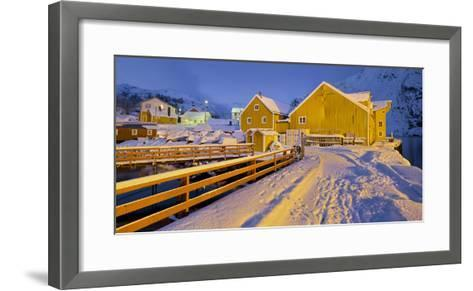 Nusfjord, Flakstadoya (Island), Lofoten, 'Nordland' (County), Norway-Rainer Mirau-Framed Art Print