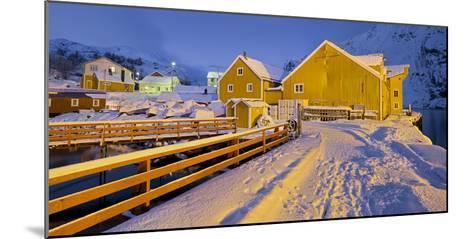 Nusfjord, Flakstadoya (Island), Lofoten, 'Nordland' (County), Norway-Rainer Mirau-Mounted Photographic Print