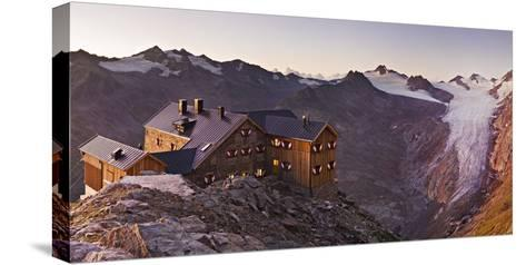 Austria, Tyrol, …tztaler Alps, Ramolhaus, Mountain Hut-Rainer Mirau-Stretched Canvas Print