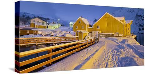 Nusfjord, Flakstadoya (Island), Lofoten, 'Nordland' (County), Norway-Rainer Mirau-Stretched Canvas Print