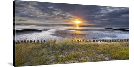 Sunrise in the Mudflat, Close to List (Municipality), Sylt (Island), Schleswig-Holstein, Germany-Rainer Mirau-Stretched Canvas Print