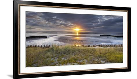 Sunrise in the Mudflat, Close to List (Municipality), Sylt (Island), Schleswig-Holstein, Germany-Rainer Mirau-Framed Art Print