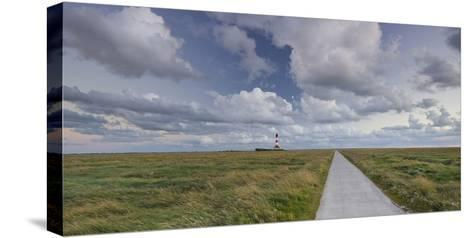 Way to the Lighthouse of Westerhever (Municipality), Schleswig-Holstein, Germany-Rainer Mirau-Stretched Canvas Print