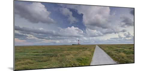 Way to the Lighthouse of Westerhever (Municipality), Schleswig-Holstein, Germany-Rainer Mirau-Mounted Photographic Print