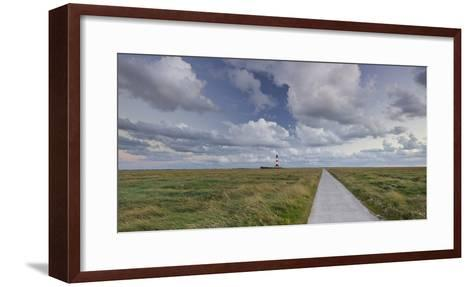 Way to the Lighthouse of Westerhever (Municipality), Schleswig-Holstein, Germany-Rainer Mirau-Framed Art Print