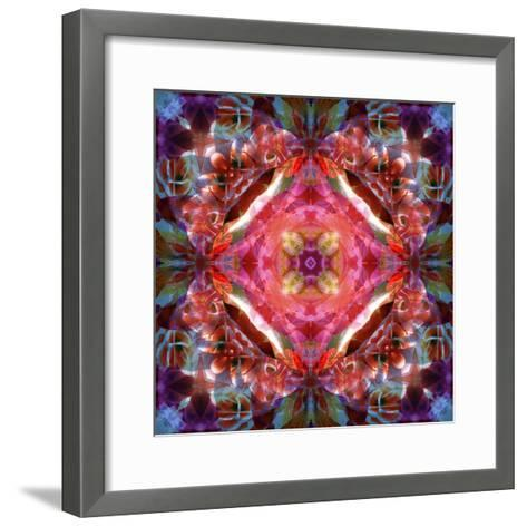 Mandala Ornament from Flower Photographs-Alaya Gadeh-Framed Art Print