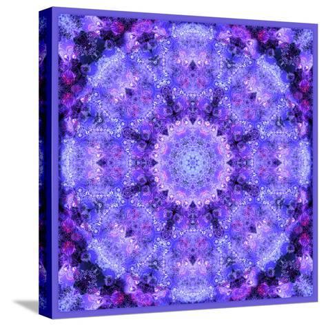 Mandala, Filigree Symmetrical Arrangement in Lilac-Alaya Gadeh-Stretched Canvas Print