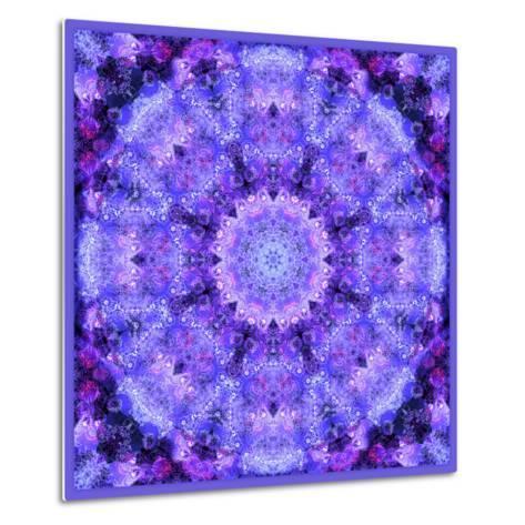 Mandala, Filigree Symmetrical Arrangement in Lilac-Alaya Gadeh-Metal Print