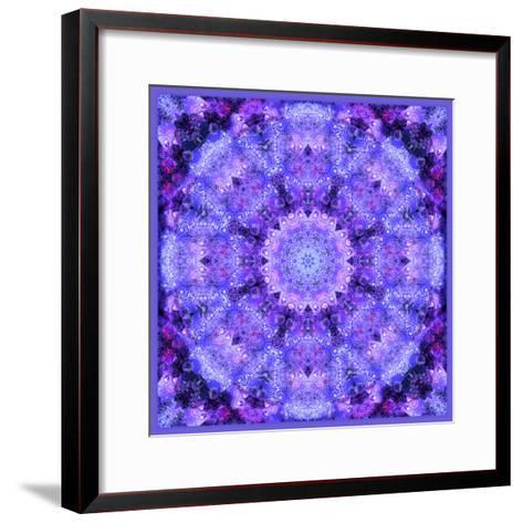 Mandala, Filigree Symmetrical Arrangement in Lilac-Alaya Gadeh-Framed Art Print