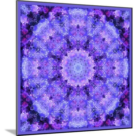 Mandala, Filigree Symmetrical Arrangement in Lilac-Alaya Gadeh-Mounted Photographic Print