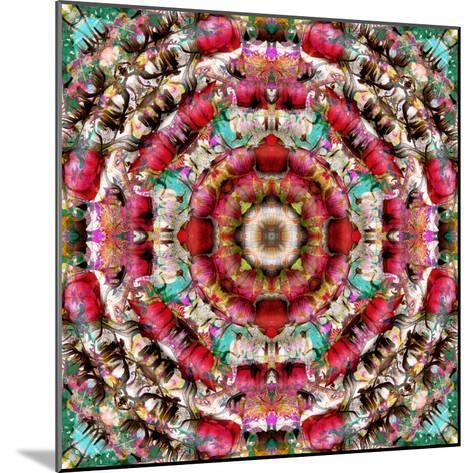 Mandala Ornament from Flower Photographs-Alaya Gadeh-Mounted Photographic Print