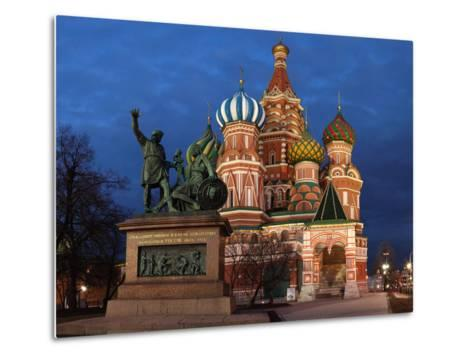 Moscow, Panorama, Red Square, Saint Basil's Cathedral, Evening-Catharina Lux-Metal Print