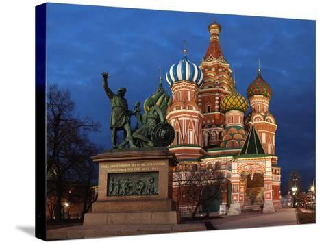 Moscow, Panorama, Red Square, Saint Basil's Cathedral, Evening-Catharina Lux-Stretched Canvas Print
