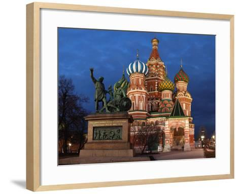 Moscow, Panorama, Red Square, Saint Basil's Cathedral, Evening-Catharina Lux-Framed Art Print