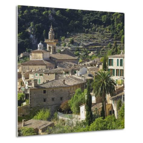 Townscape of Valldemossa, Majorca, Spain-Rainer Mirau-Metal Print