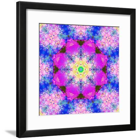 A Mandala Ornament from Flower Photographs, Conceptual Layer Work-Alaya Gadeh-Framed Art Print