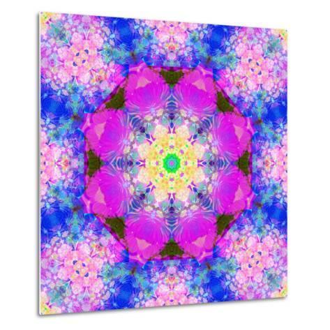 A Mandala Ornament from Flower Photographs, Conceptual Layer Work-Alaya Gadeh-Metal Print