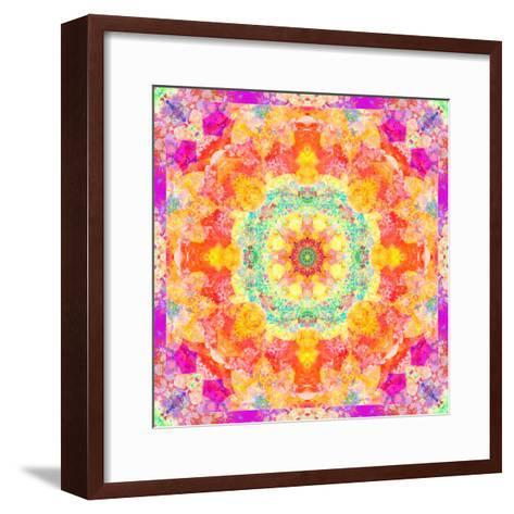 A Mandala Ornament from Flower Photographs, Conceptual Layer Work-Alaya Gadeh-Framed Art Print