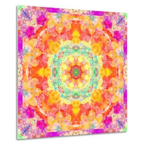 A Mandala Ornament from Flower Photographs, Conceptual Layer Work-Alaya Gadeh-Metal Print