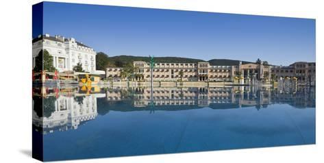 Austria, Lower Austria, Baden Near Vienna, Beach Swimming Area, Water Washbasin-Rainer Mirau-Stretched Canvas Print