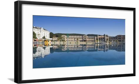 Austria, Lower Austria, Baden Near Vienna, Beach Swimming Area, Water Washbasin-Rainer Mirau-Framed Art Print