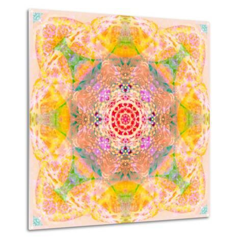 Symmetric Photographic Layer Work of Blossoms-Alaya Gadeh-Metal Print