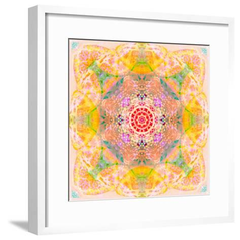 Symmetric Photographic Layer Work of Blossoms-Alaya Gadeh-Framed Art Print