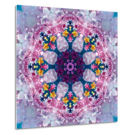 Mandala Ornament from Poeny Blossoms-Alaya Gadeh-Metal Print