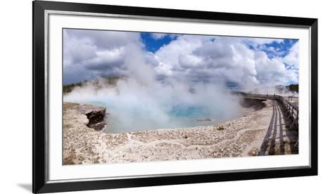 Panorama, USA, Yellowstone National Park, Excelsior Geyser-Catharina Lux-Framed Art Print