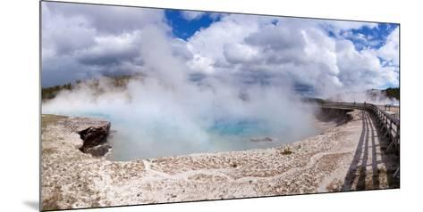 Panorama, USA, Yellowstone National Park, Excelsior Geyser-Catharina Lux-Mounted Photographic Print
