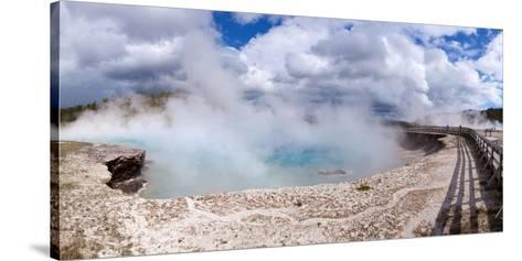 Panorama, USA, Yellowstone National Park, Excelsior Geyser-Catharina Lux-Stretched Canvas Print