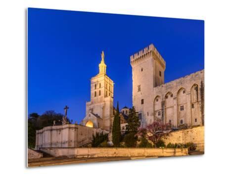 France, Provence, Vaucluse, Avignon, Place Du Palais, Papal Palace, Cathedral Notre Dame-Udo Siebig-Metal Print