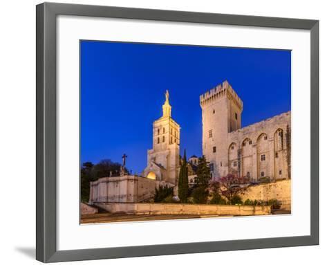 France, Provence, Vaucluse, Avignon, Place Du Palais, Papal Palace, Cathedral Notre Dame-Udo Siebig-Framed Art Print