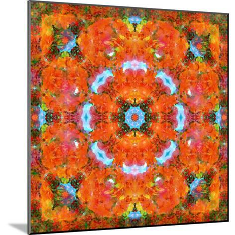 A Mandala Ornament from Flower Photographs, Conceptual Layer Work-Alaya Gadeh-Mounted Photographic Print