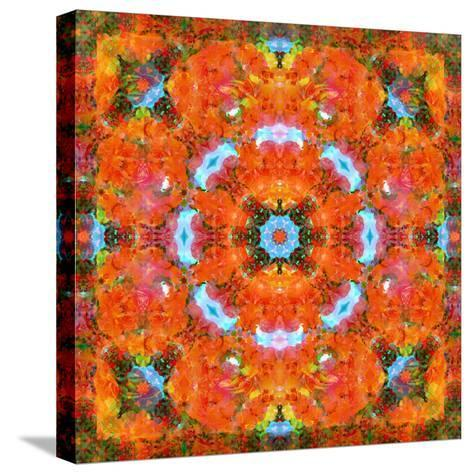 A Mandala Ornament from Flower Photographs, Conceptual Layer Work-Alaya Gadeh-Stretched Canvas Print