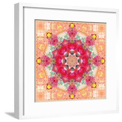A Floral Montage, Layer Work from Pink and Red Poeny Blossoms and Pink Cherry Blossoms-Alaya Gadeh-Framed Art Print