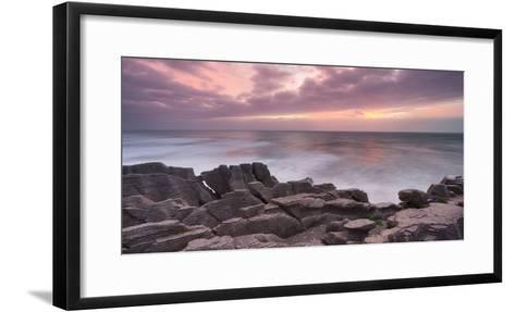 Pancake Rock, Paparoa, West Coast, South Island, New Zealand-Rainer Mirau-Framed Art Print